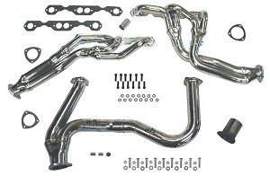 1973-1987 Truck and 1973-1991 Suburban 4WD SBC without Heat Riser with 3-inch Cat. Inlet and 4-6 inch Lift with Dual AIR Smog Fittings THY-364Y9-DA-C